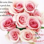 Gül çiçekli bayram mesajları