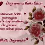 Çiçekli kalpli resimli bayram mesajları
