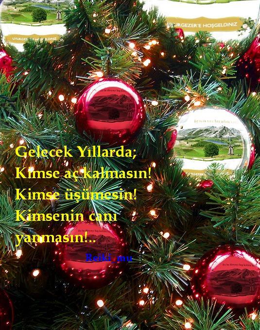 Noel Ağaçlı Resiml Sözler