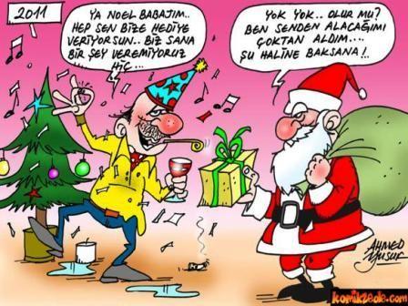 Komik Noel Baba Resimleri
