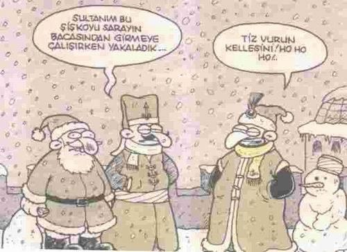 Komik NoelBaba Resimli Mesajları